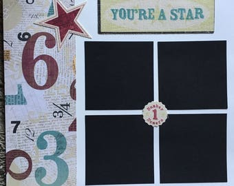 You're A Star - 12 x 12 Premade Scrapbook Pages
