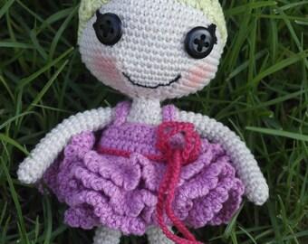 Amigurumi crocheted doll - Amigurumi doll - crochet doll amigurumi - crochet amigurumi - Pixe lalaloopsy