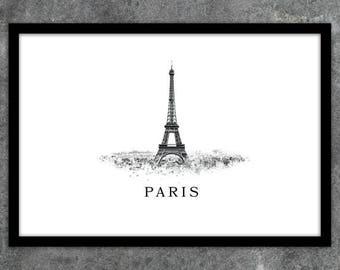 Print poster printable Paris France Eiffel Tower instant download A1 A2 A3 A4 A5 20 x 16-24 x 18-36 x 24 70 x 50 90 x 60 + US sizes