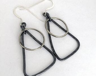 Everyday Earrings - Geometric Earrings - Sterling Silver Earrings Flirty Earrings - Simple Earrings - Gift for Her - Girlfriend Gift - E3061