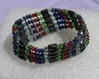 Colorful Magnetic Wrap Beaded Bracelet