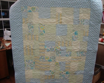 Baby Boy Blue & Green Quilt