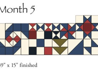 Austin Bluebird Sampler - by Minick and Simpson - Download - MONTH 5