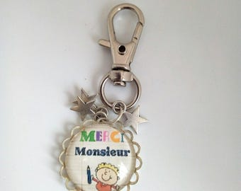 """Year end gift key chain """"thank you Sir"""""""