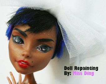 Monster High Custom Make-Up (Repaint) Doll with hand-made outfit