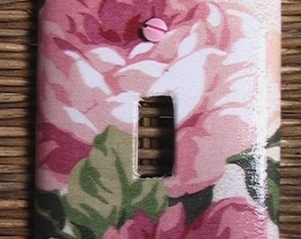 Peony Single Toggle Light Switch Cover Plate