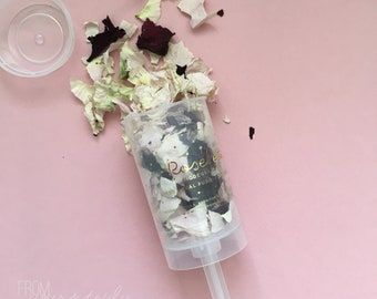 Rosefetti Biodegradable Confetti Push-Pop / Popper with Dried Rose Petal Confetti (Pk-4)