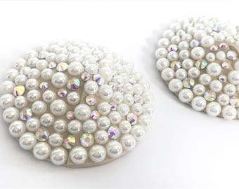 Pearl & AB Crystal Burlesque Pasties