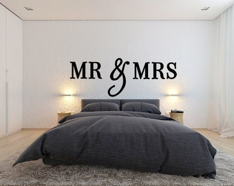 MR and Mrs Wooden Letters Wall Decor - Bedroom Decor - Home Decor Wall Hanging Letters - Wedding Guest Book Sign - Large Wood Letters