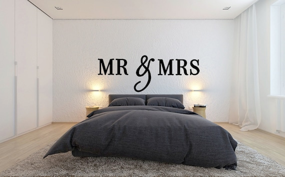 Mr And Mrs Large Wooden Letters: MR And Mrs Wooden Letters Wall Decor Bedroom Decor Home
