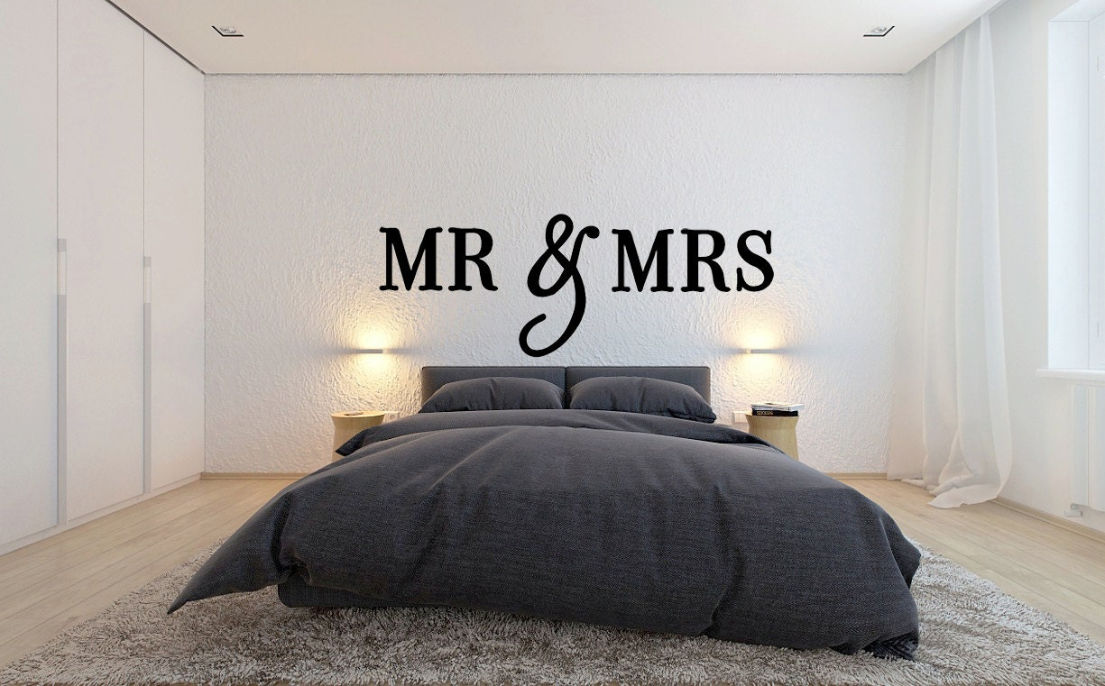 Mr and mrs wooden letters wall decor bedroom decor home zoom ppazfo