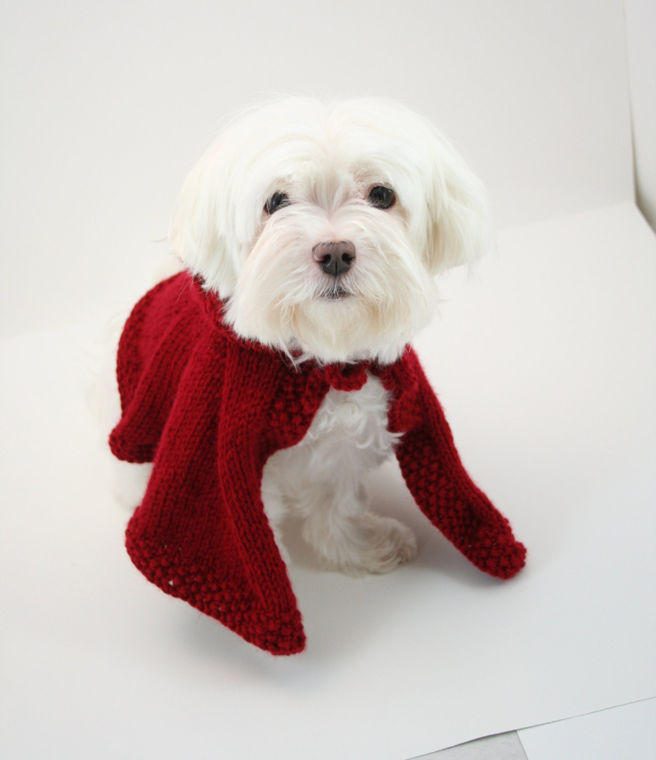 PDF DIGITAL PATTERN:Knit Dog Cape Pattern,Little Red Riding Hood ...