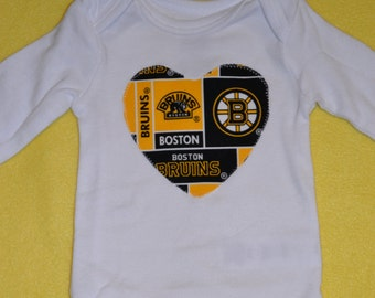 Boston Bruins Heart Onesie