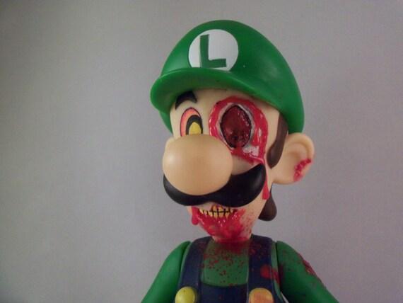 Creepy Cute Zombie Luigi Doll