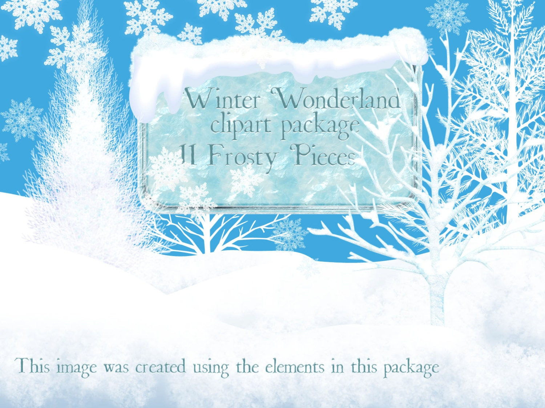 winter clipart winter wonderland clip art christmas clipart rh etsy com winter wonderland clipart free winter wonderland clipart black and white