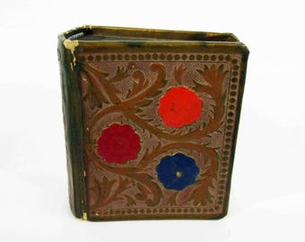 Vintage Small Photo Album with Embossed Covers and Binding. Circa 1920's - 1930's.