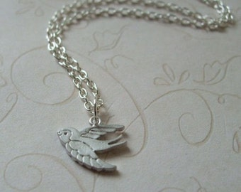 Silver Sparrow Necklace, Everyday Jewelry