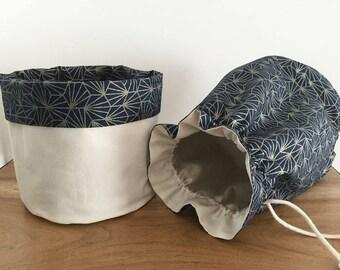 Fabric bag storage basket