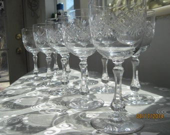 Small crystal wine glasses