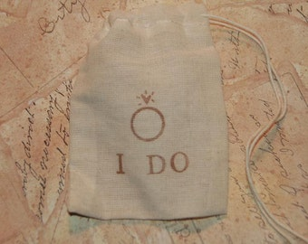 Wedding Ring Bag, Personalized Ring Bag, Ring Bearer, Ring Pillow Alternative, I Do, Rustic Wedding, Best Man Ring Bag, Ring Warming