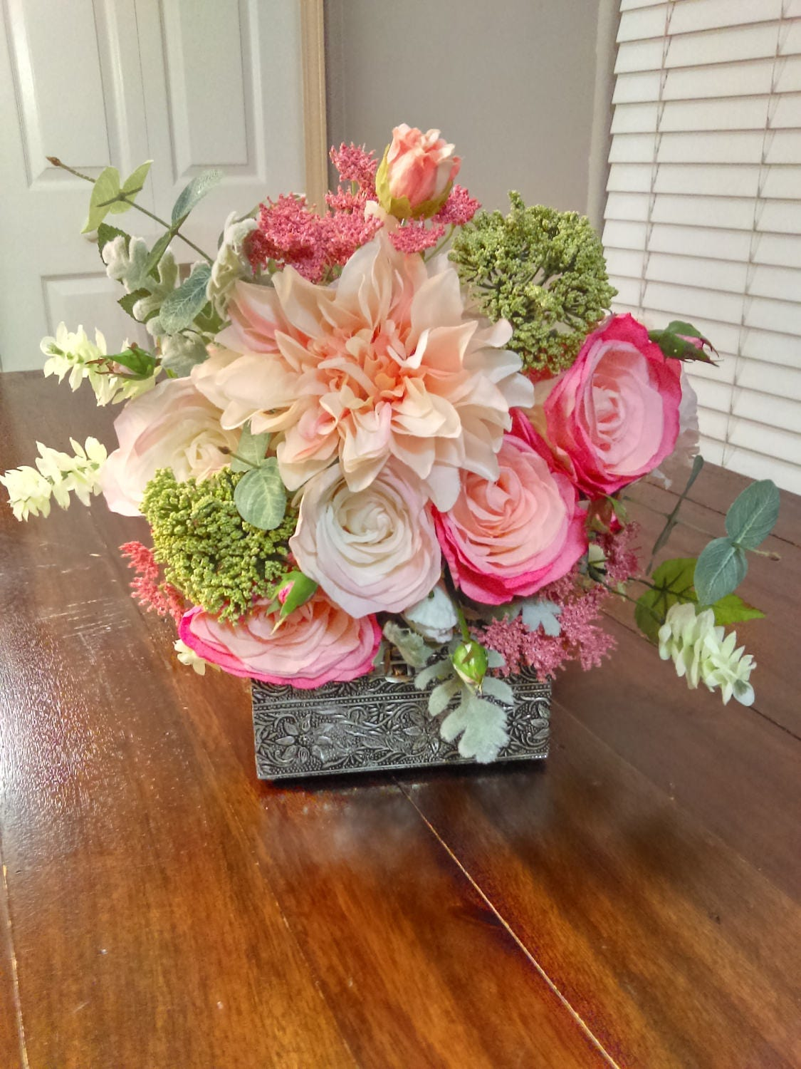 Spring pink and peach bridal bouquet size 12 inches wedding zoom izmirmasajfo