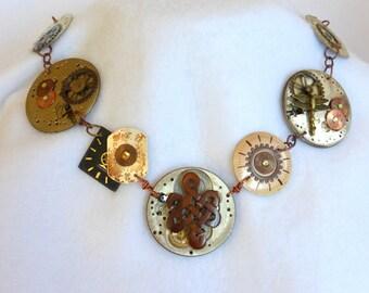 Steampunk Watchface Necklace  SN263