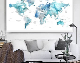 Gray world map etsy search results gumiabroncs Gallery