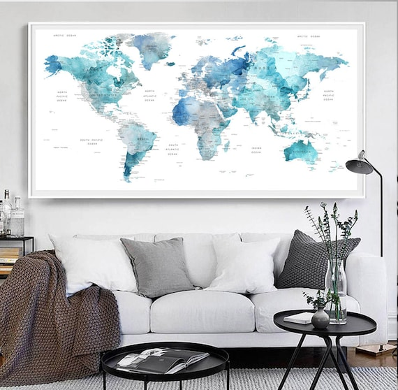 Soft color print detailed map cities and state names like this item gumiabroncs Choice Image