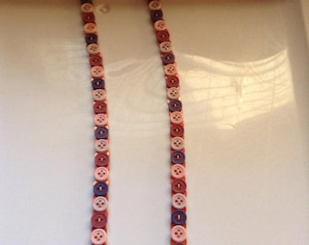 Vintage button reversible necklace