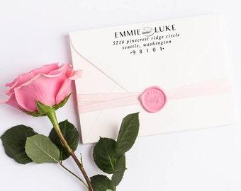 Custom Return Address Stamp, Self Ink Return Address Stamp, Wedding Return Address, Calligraphy Address Stamp Return Address Stamp No 105