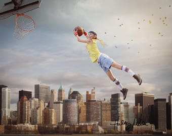 Instant Download Digital Prop Basketball Hoop Net Cut Out Transparent Overlay
