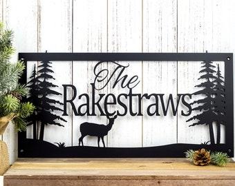 Custom Name Sign | Metal Sign | Personalized Sign | Lake Home Decor | Cabin Decor | Name Sign | Metal Wall Art | Deer