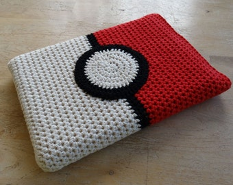 Pokemon Poke Ball Cover for Macbook, Microsoft Surface, DS, 3DS, DS Lite Customised Notebook or Laptop, Hand Crocheted to Order in Australia
