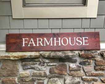 Rustic Farmhouse Shiplap Sign~ wood sign ~ rustic wood signs ~ rustic wall decor ~ shabby chic decor ~ farmhouse decor ~ wall decor