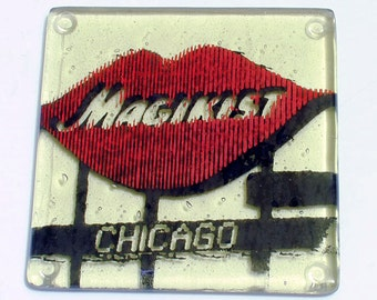 Greetings from Chicago Single Coaster | Magiksit