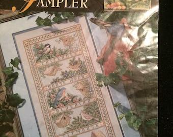 Treetop Sampler, Teresa Wentzler, Leisure Arts, Cross Stitch Pattern, Bird Sampler, OFG