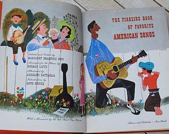 Fireside Book of Favorite American Songs Vintage Book