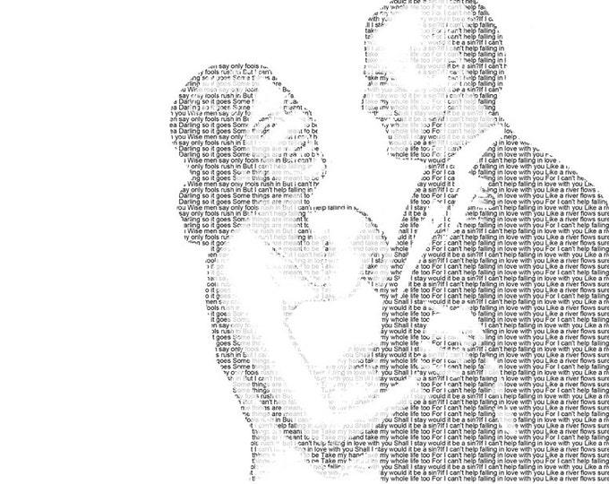 Wedding Vow Art Wedding Song Lyrics First Dance Lyrics First Dance Song 1st Anniversary First dance Frame Wedding Vows Print on Paper 11x17