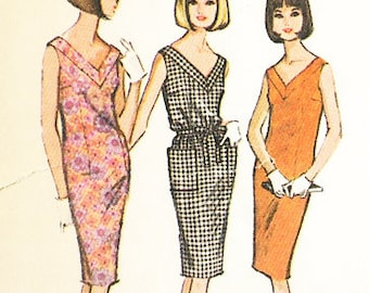McCall's Vintage 1960s - MOD SHIFT DRESS  - Sewing Pattern - Size 14-16 - Uncut