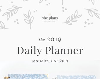 2019 Daily Planner | Six-Month Planner, 2019 Diary, Daily Agenda, Appointment Book, Academic Planner, Style No. JAN19/BL