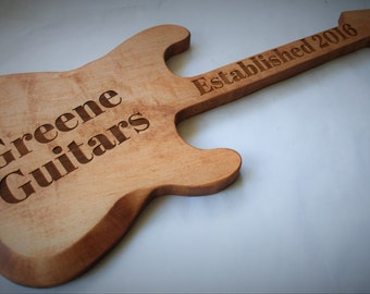 Custom made, hand carved, personalized Guitar, Guitar sign, custom sign, guitar player gift, bar sign, home bar