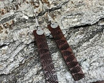 SALE Leather Earrings