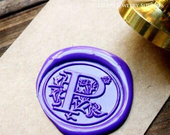 1pcs 25mm Custom Wax Seal Stamp Initial Alphabet Sealing Wax Stamp,Personalized Monogram Calligraphy Wedding Invitation Metal Stamp(WS164)