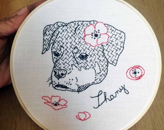 Custom dog portrait (or any other pet) rottweiler