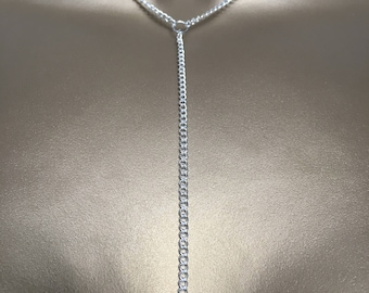 Personalised Heart Lariat Chain Necklace