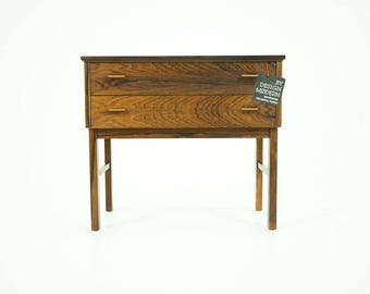 309-115 Danish Mid Century Modern Rosewood Bedside Nightstand Table Dresser