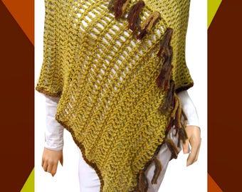 Boho Poncho, Women's Poncho, Crochet Poncho, XS To Plus Size Poncho, Hippie Poncho, Bohemian Clothing, Hippie Clothes, Mother's Day Gift