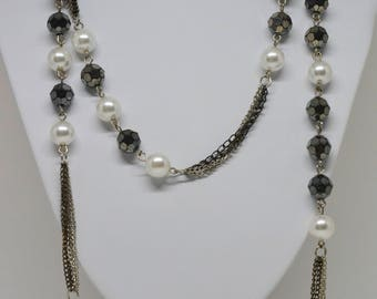 Charming silver tone necklace