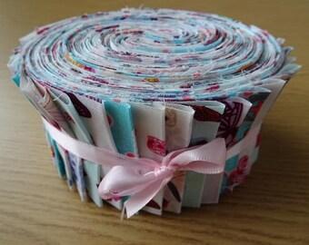 40 Jelly Roll Strips 100% Cotton Patchwork Fabric ~ Butterflies