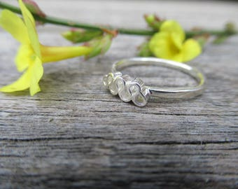 Tudor Ruff Stacker Ring Sterling Silver Polished Silver Sample Sale